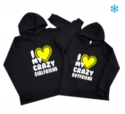 Парные худи - I love my crazy..